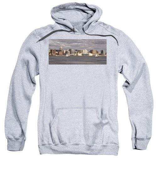 Ice Sailing - Lake Monona - Madison - Wisconsin Sweatshirt