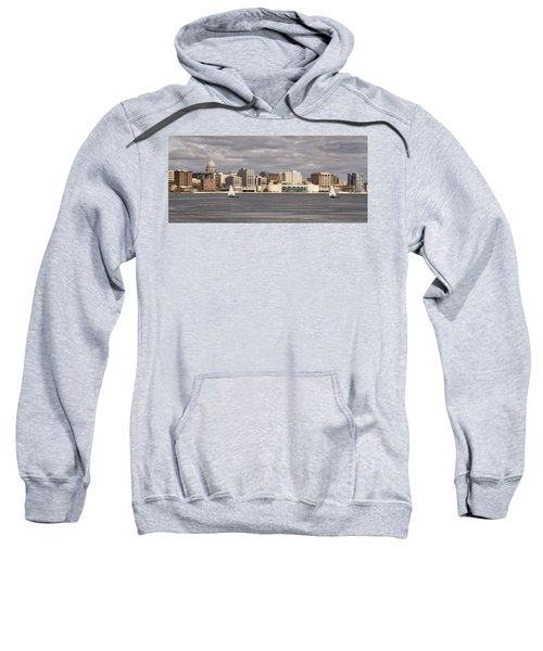 Ice Sailing - Lake Monona - Madison - Wisconsin Sweatshirt