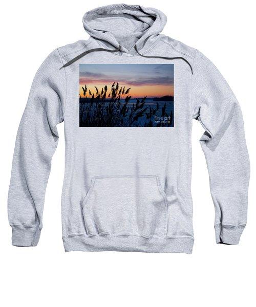 Illinois River Winter Sunset Sweatshirt