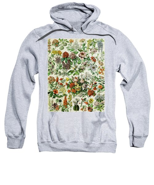 Illustration Of Flowering Plants Sweatshirt