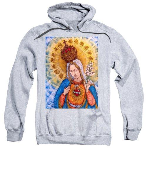 Immaculate Heart Of Virgin Mary Sweatshirt by Kent Chua