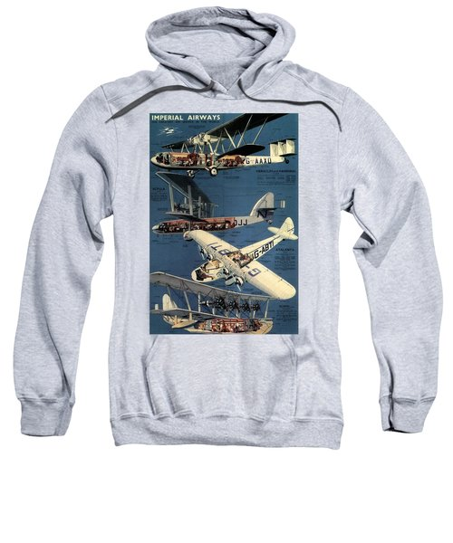 Imperial Airways - The Greatest Air Service In The World - Retro Travel Poster - Vintage Poster Sweatshirt