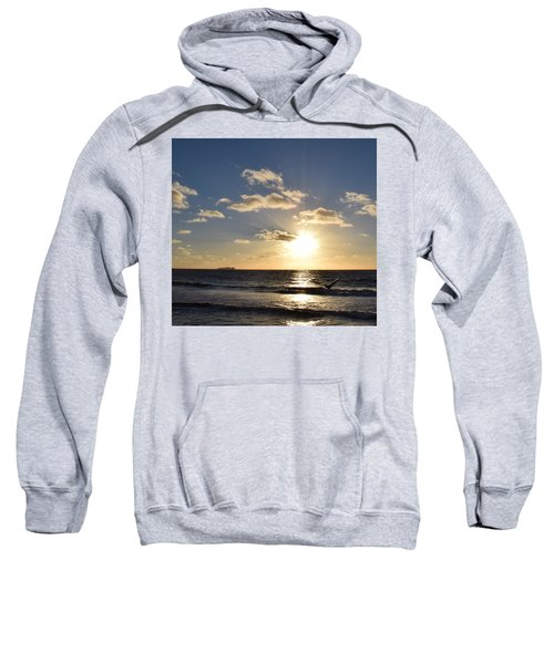 Sunset Reflection At Imperrial Beach Sweatshirt