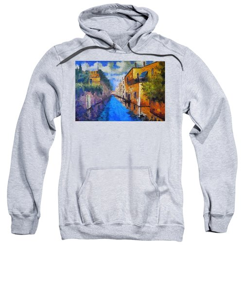 Impressionist D'art At The Canal Sweatshirt