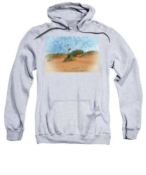 In The Dunes With A Hummingbird Sweatshirt