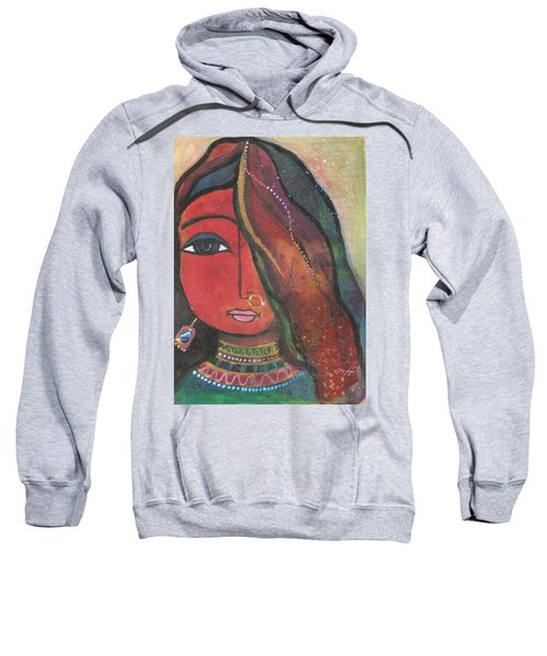 Indian Girl With Nose Ring Sweatshirt