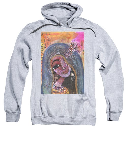 Indian Rajasthani Woman With Colorful Background  Sweatshirt