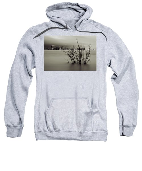 Industry On The Mississippi River, In Monochrome Sweatshirt