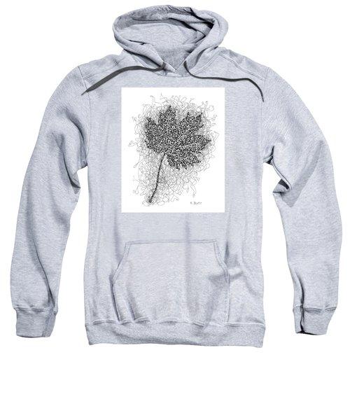 Ink Drawing Of Maple Leaf Sweatshirt