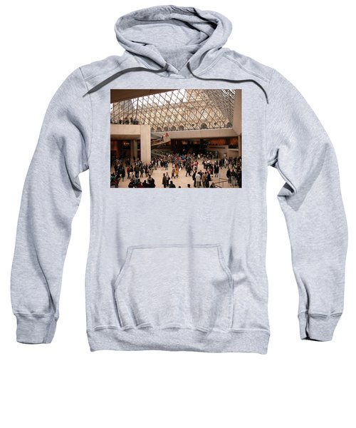 Sweatshirt featuring the photograph Inside Louvre Museum Pyramid by Mark Czerniec