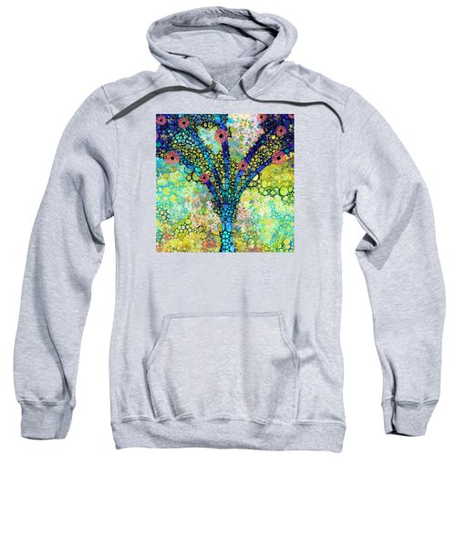 Inspirational Art - Absolute Joy - Sharon Cummings Sweatshirt by Sharon Cummings