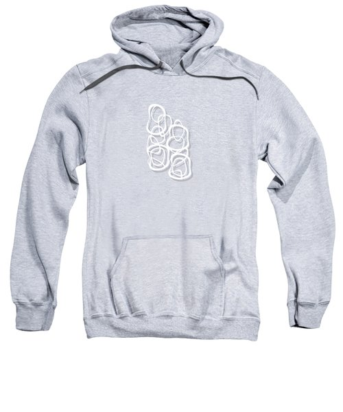 Interlocking - White On Soft Gray Owl - Pattern Sweatshirt