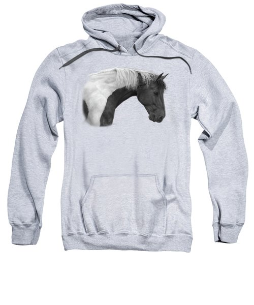 Intrigued - Black And White Sweatshirt by Lucie Bilodeau
