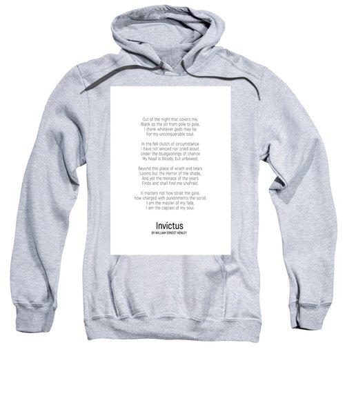 Invictus By William Ernest Henley #minimalist #poem  Sweatshirt