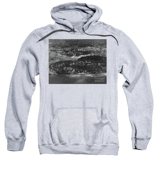 Inwood Hill Park Aerial, 1935 Sweatshirt by Cole Thompson