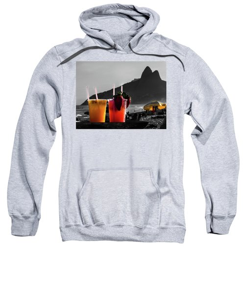 Ipanema With Cocktails Sweatshirt by Cesar Vieira
