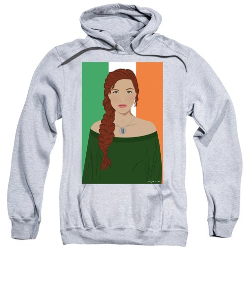 Sweatshirt featuring the digital art Ireland by Nancy Levan