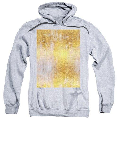 Iridescent Abstract Non Objective Golden Painting Sweatshirt