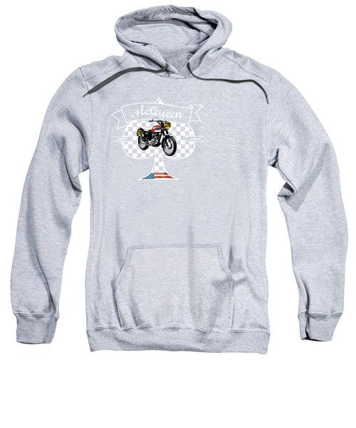 Isdt Triumph Steve Mcqueen Sweatshirt by Mark Rogan