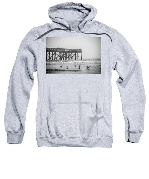 Isle Of Palms Pier And Fog Sweatshirt