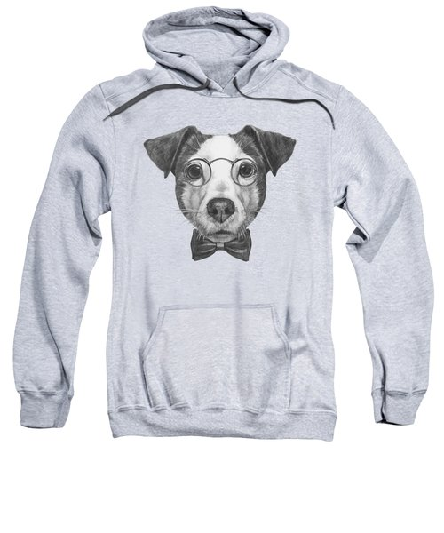 Jack Russell With Glasses And Bow Tie Sweatshirt