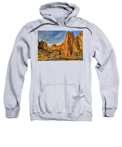 Jagged Peaks Over The Crooked River Sweatshirt