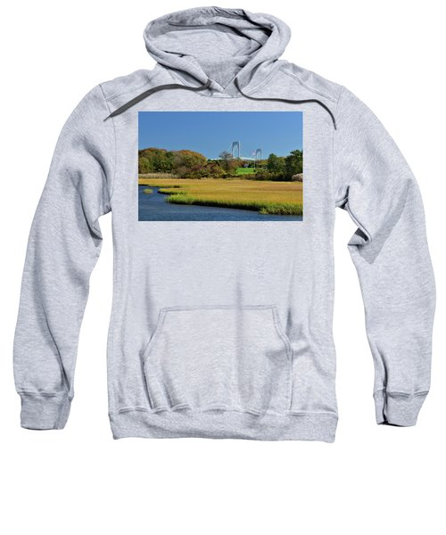 Jamestown Marsh With Pell Bridge Sweatshirt