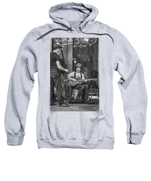 Jammin' In The French Quarter 2 - Paint Bw Sweatshirt