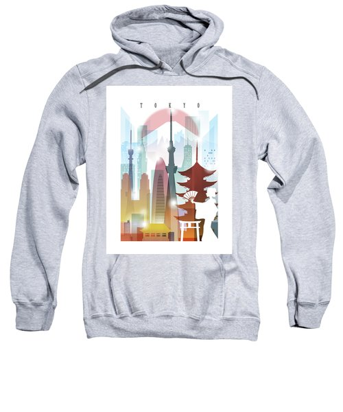 Japan Tokyo 2 Sweatshirt by Unique Drawing
