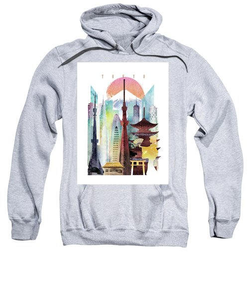 Japan Tokyo Sweatshirt by Unique Drawing