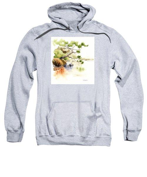 Japanese Garden Pond Sketch Sweatshirt