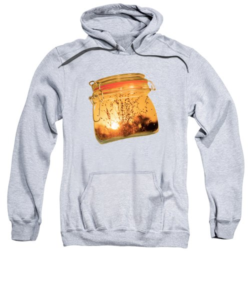 Sweatshirt featuring the photograph Jar Full Of Sunshine by Linda Lees
