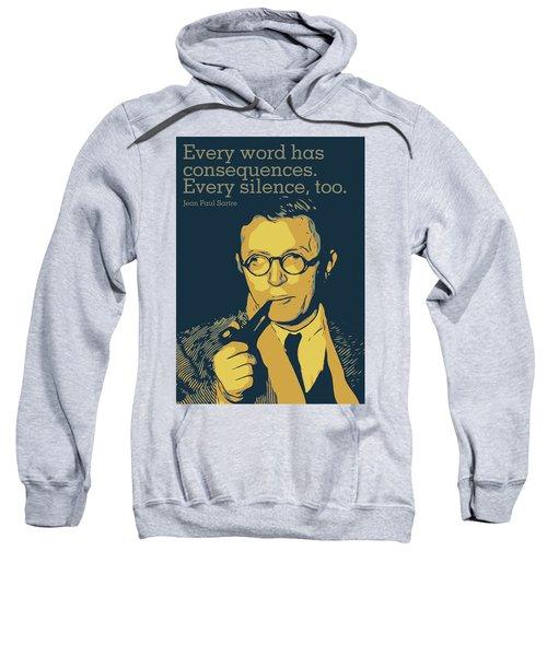 Jean Paul Sartre Sweatshirt