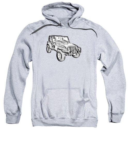 Jeep Wrangler Rubicon Illustration Sweatshirt
