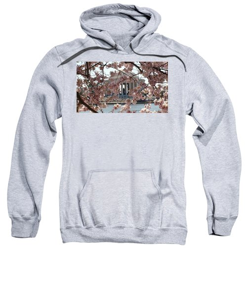 Jefferson Through The Cherry Blossoms Sweatshirt