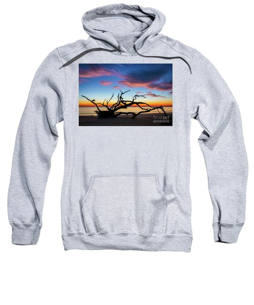 Jekyll Island Sunrise On Driftwood Beach Sweatshirt