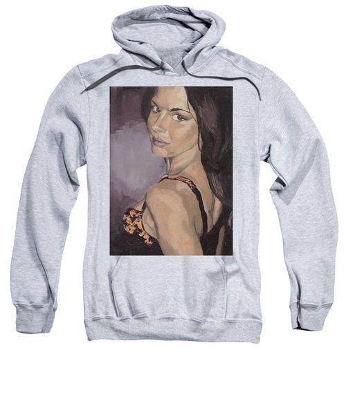Jenny In Black Sweatshirt