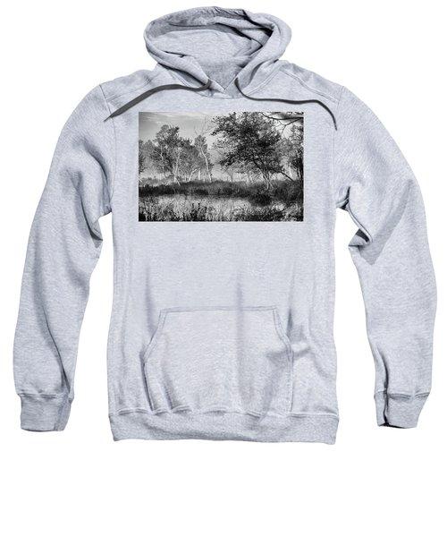 Jersey Pine Lands In Black - White Sweatshirt