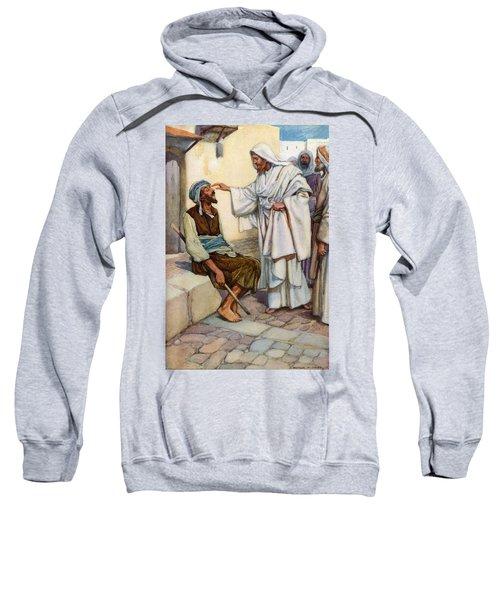 Jesus And The Blind Man Sweatshirt
