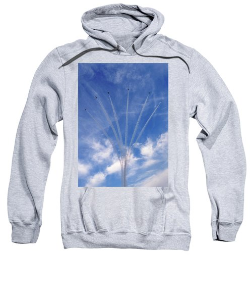 Jet Planes Formation In Sky Sweatshirt