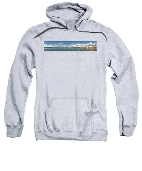Sweatshirt featuring the photograph Jetty To Shore by Stephen Mitchell