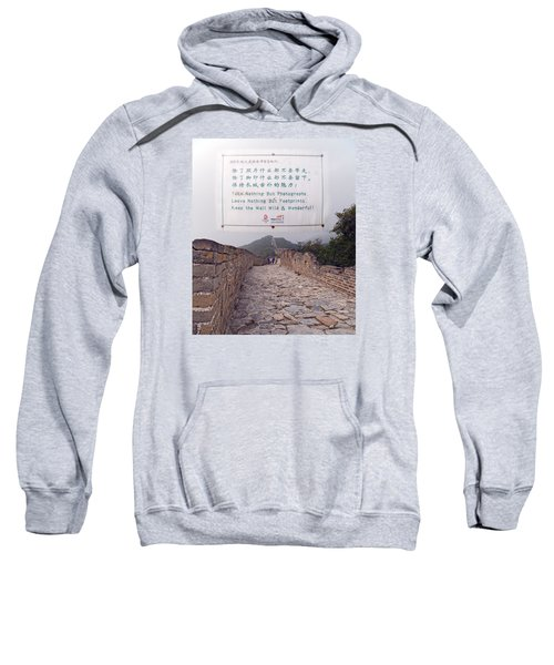 Jiankou To Mutianyu Leave Nothing Sweatshirt