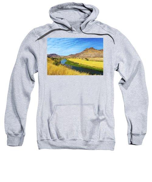 John Day River Panoramic View Sweatshirt