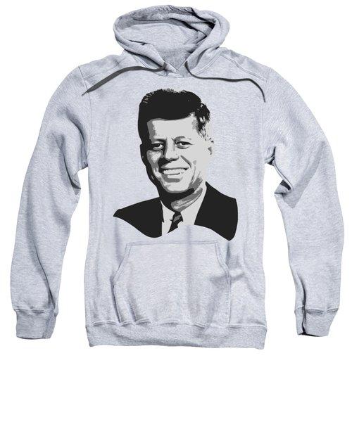 John F Kennedy Black And White Pop Art Sweatshirt