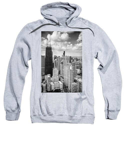 John Hancock Building In The Gold Coast Black And White Sweatshirt