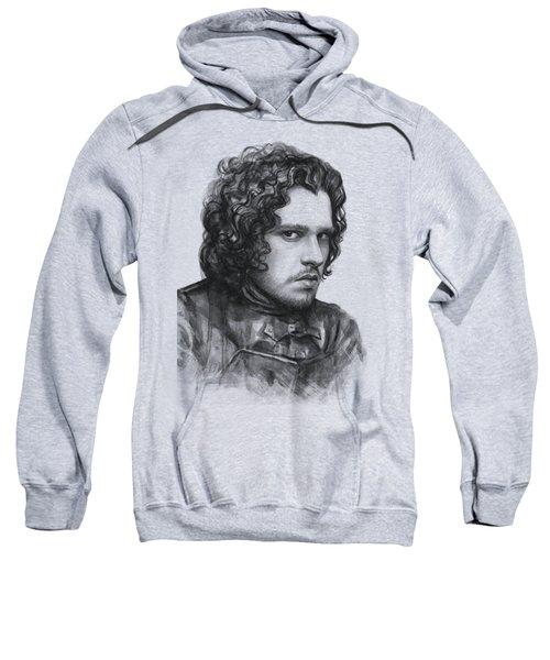 Jon Snow Game Of Thrones Sweatshirt by Olga Shvartsur