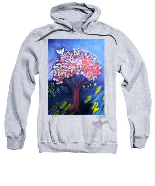 Sweatshirt featuring the painting Joy by Winsome Gunning