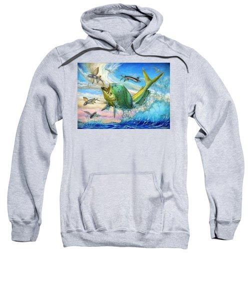 Jumping Mahi Mahi And Flyingfish Sweatshirt