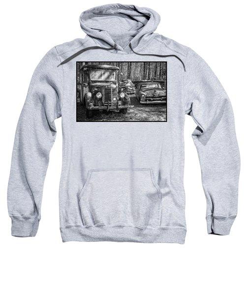 Junked Mack Truck Ad Old Plymouth Sweatshirt