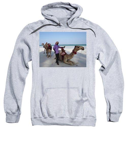 Just Married Camels Kenya Beach 2 Sweatshirt by Exploramum Exploramum